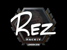 Наклейка   REZ   Лондон 2018