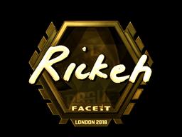 Наклейка   Rickeh (золотая)   Лондон 2018