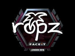 Sticker   ropz (Foil)   London 2018