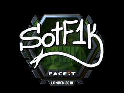 Наклейка   S0tF1k (металлическая)   Лондон 2018