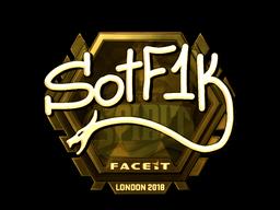 Наклейка   S0tF1k (золотая)   Лондон 2018
