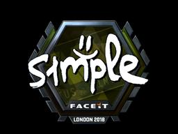 Sticker   s1mple (Foil)   London 2018