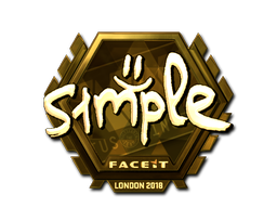 Sticker   s1mple (Gold)   London 2018