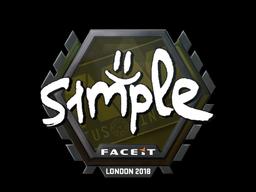 Sticker   s1mple   London 2018
