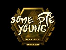 Наклейка   sdy (золотая)   Лондон 2018