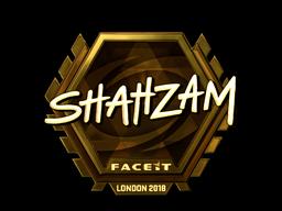 Наклейка   ShahZaM (золотая)   Лондон 2018