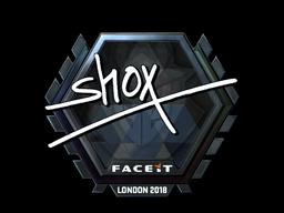 Sticker   shox (Foil)   London 2018