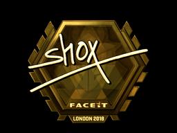 Sticker   shox (Gold)   London 2018