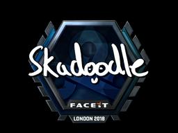 Sticker   Skadoodle (Foil)   London 2018