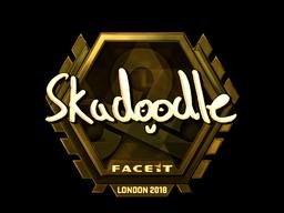 Sticker   Skadoodle (Gold)   London 2018