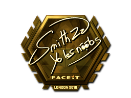 Sticker   SmithZz (Gold)   London 2018