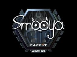 Наклейка | smooya (металлическая) | Лондон 2018