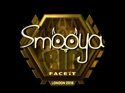 Наклейка | smooya (золотая) | Лондон 2018