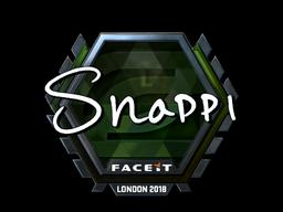 Наклейка   Snappi (металлическая)   Лондон 2018