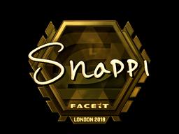 Наклейка   Snappi (золотая)   Лондон 2018