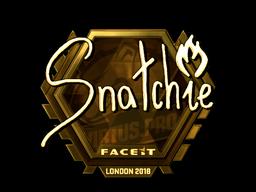 Наклейка | snatchie (золотая) | Лондон 2018