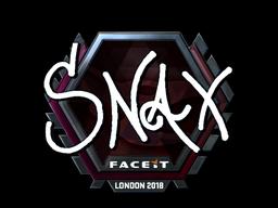 Sticker   Snax (Foil)   London 2018