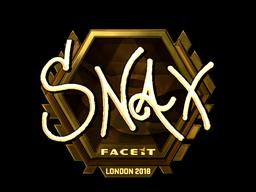 Sticker   Snax (Gold)   London 2018