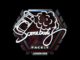 Наклейка   somebody (металлическая)   Лондон 2018