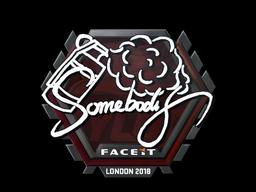 Наклейка   somebody   Лондон 2018