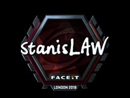 Наклейка   stanislaw (металлическая)   Лондон 2018