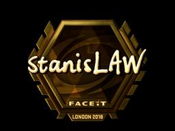 Наклейка   stanislaw (золотая)   Лондон 2018