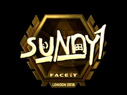 Sticker   suNny (Gold)   London 2018