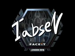 Наклейка | tabseN (металлическая) | Лондон 2018