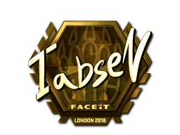 Наклейка | tabseN (золотая) | Лондон 2018