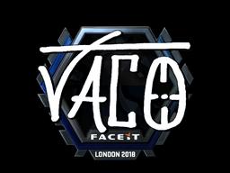 Наклейка | TACO (металлическая) | Лондон 2018