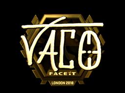 Наклейка | TACO (золотая) | Лондон 2018