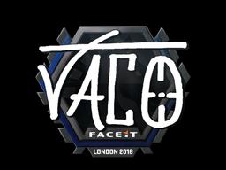 Наклейка | TACO | Лондон 2018