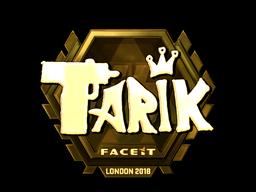 Sticker   tarik (Gold)   London 2018