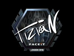 Наклейка | tiziaN (металлическая) | Лондон 2018