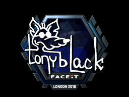 Наклейка | tonyblack (металлическая) | Лондон 2018