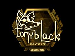 Наклейка | tonyblack (золотая) | Лондон 2018