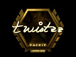 Наклейка | Twistzz (золотая) | Лондон 2018
