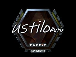 Наклейка   USTILO (металлическая)   Лондон 2018