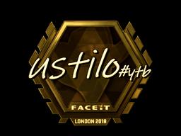 Наклейка   USTILO (золотая)   Лондон 2018