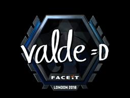 Наклейка | v4lde (металлическая) | Лондон 2018