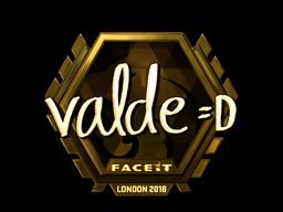 Наклейка | v4lde (золотая) | Лондон 2018