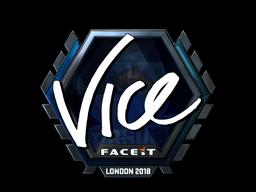 Наклейка   vice (металлическая)   Лондон 2018