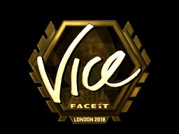 Наклейка   vice (золотая)   Лондон 2018