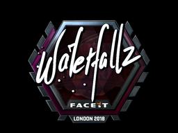 Sticker   waterfaLLZ (Foil)   London 2018