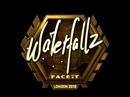Sticker   waterfaLLZ (Gold)   London 2018