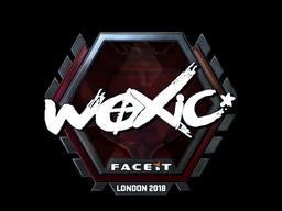 Наклейка   woxic (металлическая)   Лондон 2018