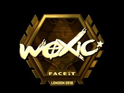 Наклейка   woxic (золотая)   Лондон 2018