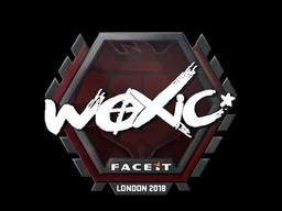 Наклейка   woxic   Лондон 2018