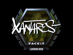 Наклейка | XANTARES (металлическая) | Лондон 2018