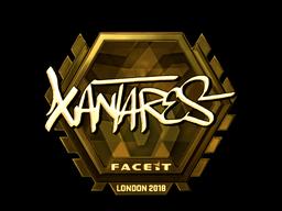 Наклейка | XANTARES (золотая) | Лондон 2018